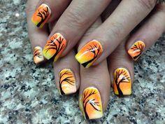 Autumn fall thanksgiving nail art 11/09/13