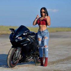 Motorcycle for women motorbikes biker chick 53 Ideas - BARBIE CYCLE - Motorrad Motorbike Girl, Motorcycle Outfit, Lady Biker, Biker Girl, Motard Sexy, Moto Cross, Ninja Girl, Looks Chic, Biker Chick