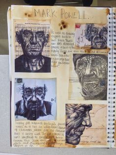 A level sketchbook page. A Level Art Sketchbook, Sketchbook Layout, Artist Sketchbook, Sketchbook Pages, Sketchbook Inspiration, Sketchbook Ideas, Artist Research Page, Kunst Portfolio, Art Diary