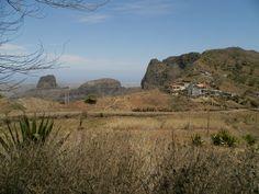 Vue de l'intérieur de l'île. Santiago - Cap Vert