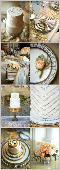 Largest online supplier of wholesale wedding supplies, personalized wedding decorations, personalized favors, DIY wedding centerpieces and DIY party supplies. Great Gatsby Themed Wedding, Art Deco Wedding, Wedding Themes, Gold Wedding, Wedding Table, Wedding Colors, Wedding Styles, Dream Wedding, Wedding Ideas