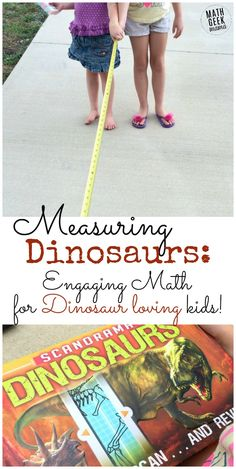 If your kids love dinosaurs, they will have a blast with this measuring activity based on the Scanorama: Dinosaurs book from Solver Dolphin Books! Explore measurement, comparing numbers, graphing and more while learning cool facts about dinosaurs!