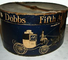 A vintage hat box. Not something I think I can duplicate but too cool to not include in my hat box collection.
