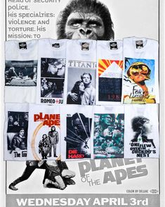 #movie #costum #tshirt #unisex #film #cinema #classic #musthave #favorite #white #printed #pattern #vintageshop #szputnyik #szputnyikshop #budapest #romeo+juliet #1984 #fearandloathinginlasvegas #planetoftheapes #diehard Fear And Loathing, Planet Of The Apes, Budapest, Psychedelic, Vintage Shops, Cinema, Vintage Fashion, Unisex, History