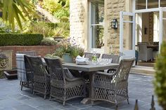 A Cozy English Country House – Take the Full House Tour Outdoor Seating Areas, Garden Seating, Outdoor Rooms, Outdoor Dining, Outdoor Furniture Sets, Dining Area, Outdoor Ideas, Barbacoa, Full House