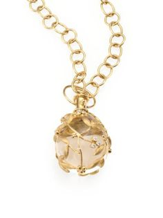 Temple St. Clair - Tree of Life Rock Crystal, Diamond & 18K Yellow Gold Large Vine Amulet