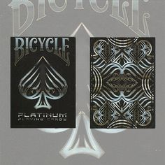 Bicycle Platinum Deck by USPCC - PLATINUM features 56 fully customized playing cards like you've never seen. Playing Cards reinvented. From a lineage of design eloquence comes a new deck of playing cards rendered in platinum. The elements of the design are forged from liquid metal tones, and enhanced by metallic inks. Crafted with rare aesthetics, the Bicycle Platinum is a work ... get it here: http://www.wizardhq.com/servlet/the-15801/bicycle-platinum-deck-by-uspcc/Detail?source=pintrest