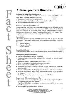 Autism Spectrum Disorder | Definition of Autism Spectrum Disorders screenshot