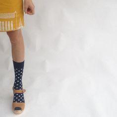 funkis dress & clogs with happy socks