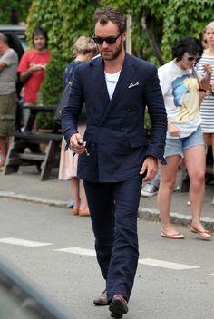 Jude law blazer azul