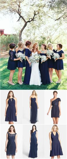 Navy Bridesmaid dress ideas. photo by Brushfire Photography.