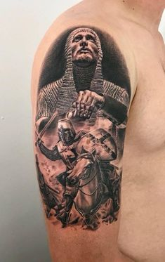 Jan 2019 - English Knight Templar tattoo by Roman. Limited availability at Redemption Tattoo Studio. War Tattoo, Helmet Tattoo, Alien Tattoo, Norse Tattoo, Armor Tattoo, Leg Tattoo Men, Viking Tattoos, Tattoo Ink, Forarm Tattoos