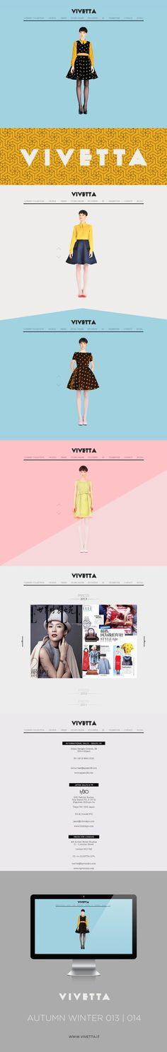 VIVETTA - WEB DESIGN 2013 by Houkart, via Behance