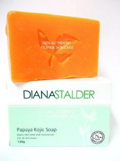 Diana Stalder Papaya Kojic Acid Whitening Soap with Pure Kojic Acid and Papain Skin Whitening Soap, Natural Skin Whitening, Dry Out Pimples, Lighten Skin Tone, Savon Soap, Kojic Acid, Nail Polish, Good Skin, Skin Care Tips