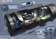 Future compact living? NeotechX//Cyberpunk, pod A no ser que esto fuera una cápsula de salvamento, no me gustaría vivir así en un futuro....