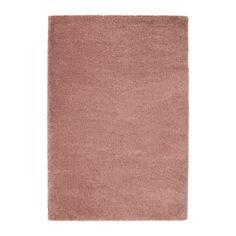 IKEA - ÅDUM, Matto, korkea nukka, 133x195 cm, vaalea rusehtava roosa, , Tiheä ja paksu nukka vaimentaa ääntä ja tuntuu pehmeältä jalan alla.Tekokuitumatto on kestävä, likaa hylkivä ja helppohoitoinen.Korkean nukan ansiosta useampia mattoja voi yhdistää ilman näkyviä rajoja.
