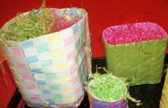 How to make Easter Baskets -Woven Paper - DIY Craft Project with instructions from Craftbits.com