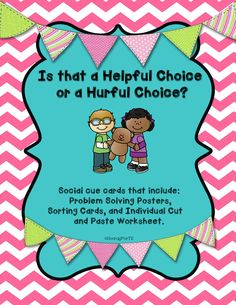 Problem solving techniques making good choices in the classroom making good choices super cute social cue cards that help teach kiddos social and problem stopboris Image collections
