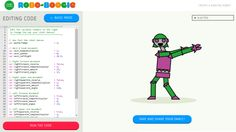 Make robot dancers groove by editing variables in coding.