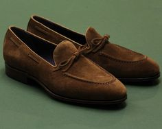 """vaatturiliikesauma: """"String for Spring. Ante Calf Snuff String Loafers 80228 on the Uetam Last with leather soles. """""""