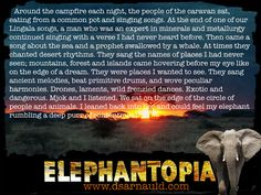 A sample of Chapter Four from the young adult novel Elephantopia.  #dsarnauld #elephant