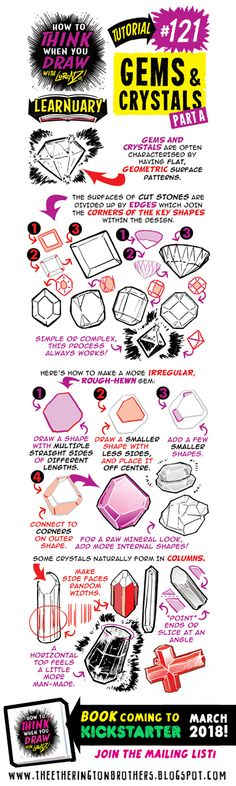 The Etherington Brothers: How to THINK when you draw GEMS and CRYSTALS tutorial #LEARNUARY day TWENTY-FIVE!
