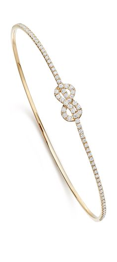 Amity 18ct Yellow Gold and Diamond bangle