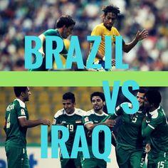 Brazil vs Iraq #olympics #rio2016 Olympic Football, Rio 2016, Olympics, Brazil