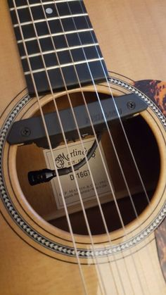 Martin My Baby with a brand new Fishman Rare Earth Blend Pickup ♡