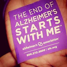 The end of Alzheimer's starts with me. #ENDALZ