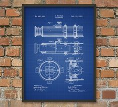 Telescope Patent Wall Art Poster by QuantumPrints on Etsy