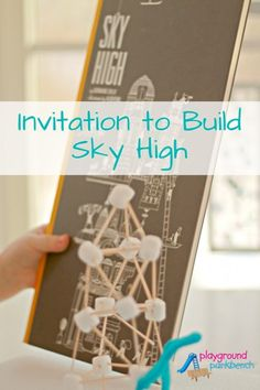 Build a Tower - Invitation to Build Sky High a STEM Challenge for Preschoolers