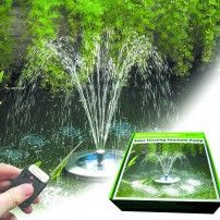 PondXpert SolarShower Float Solar Pond Pump with Battery, Remote Control and LED Lights. Attractive Solar Fountain floats on pond surface. Water Fountain Pumps, Pond Pumps, Solar Pond, Solar Water Pump, Blue Space, Water Flow, Solar Lights, Water Features, Solar Fountains