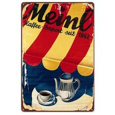 Fun Retro Vintage Coffee Wall Signs for Cafe Decor (Mix & Match) Vintage Cafe, Retro Vintage, Metal Walls, Metal Wall Art, Coffee Wall Art, All Wall, Metal Signs, Mix Match, Wall Signs
