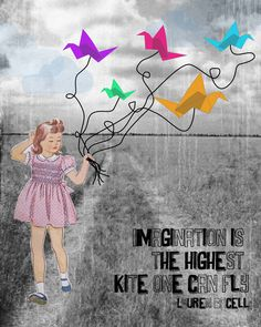 "Designed by The Poppy Creative. Wednesday LetterPlay. K is for ... Kite. ""Imagination is the highest kite one can fly"" - Lauren Bacell"