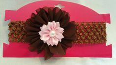 Brown & Pink Infants Headband