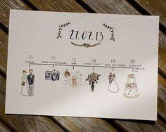結婚式のスケジュールが一目で分かる!招待状と一緒に送るペーパーアイテム『タイムライン』って知ってる?にて紹介している画像