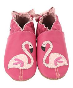 Look at this #zulilyfind! Pinky The Flamingo Leather Booties #zulilyfinds