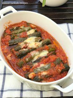 Almost Turkish Recipes: Cretan Zucchini in Tomato Sauce (Domatesli Girit Kabağı) Home Recipes, Healthy Recipes, Easy Recipes, Rice Dishes, Main Dishes, Turkish Breakfast, Baby Breakfast, Breakfast Ideas, Diabetic Side Dishes