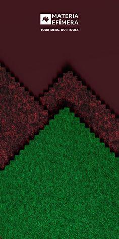 Combinación de moqueta ferial color green con burdeos jaspe para stands, ferias, congresos y eventos. #Your