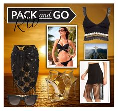"""Pack and Go - Rio"" by homespunjoy on Polyvore featuring Show Me Your Mumu, Victoria's Secret, Jonathan Simkhai, Valentino, Monsoon, Giuseppe Zanotti and Packandgo"