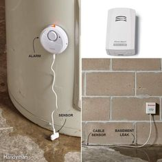 Leak Alarms - From a price standpoint, battery-powered water leak alarms, available at home centers, are hard to beat. Sensors are placed on the floor next to plumbing fixtures and appliances like washing machines and water heaters. When the sensors detect even the tiniest bit of water, the alarm puts out an ear-splitting scream to announce a leak. You can also set a sensor on your basement floor to detect and warn you if water is seeping in from outside or if your sump pump has stopped…