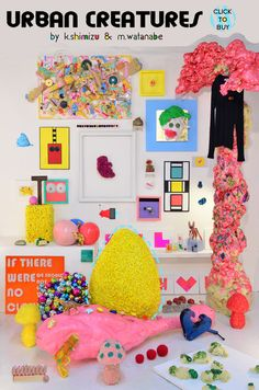 Supermarket Sarah pretty much want everything from supermarket sarah but this wall is one of my all time faves Inspiration Wall, Fantastic Art, Show And Tell, Packaging, Installation Art, Happy Halloween, All About Time, Backdrops, Dinosaur Stuffed Animal