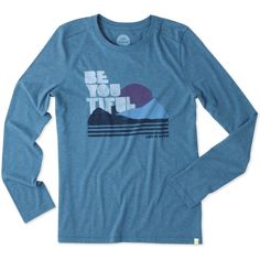 Women's Be You Tiful Stripe Mountain Long Sleeve Cool Tee | Life is Good® Official Site