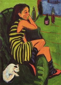 Ernst Ludwig Kirchner - Artistin - Marcella at Frankfurt Städel | Flickr - Photo Sharing!