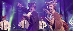 "Click here to watch Jimmy Fallon join Ylvis for ""The Fox"" on Late Night."