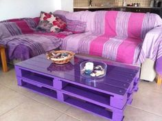 DIY pallet for coffee table