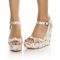 Wedged sandals. Very cute!