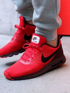 best service 60195 be33b Nike Air Max Tavas  Red Red Nike Shoes Womens, Nike Shoes Men, Sports