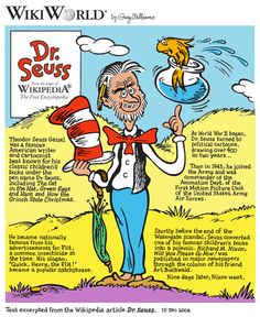 Dr. Seuss cartoon, 14 November 2006, Image From Wikipedia Article by Greg Williams, Creative Commons Attributions-Share Alike 2.5  http://bookcalendar.blogspot.com/2010/06/daily-thoughts-6132010.html